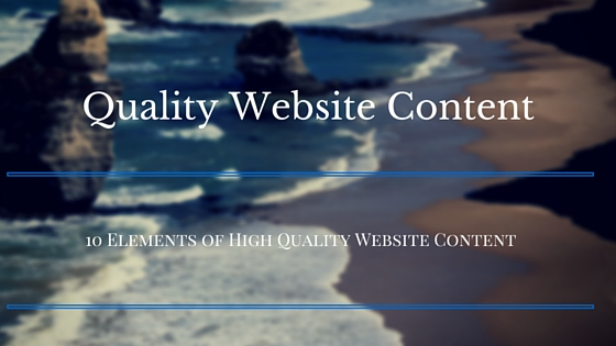 What Makes Quality Website Content
